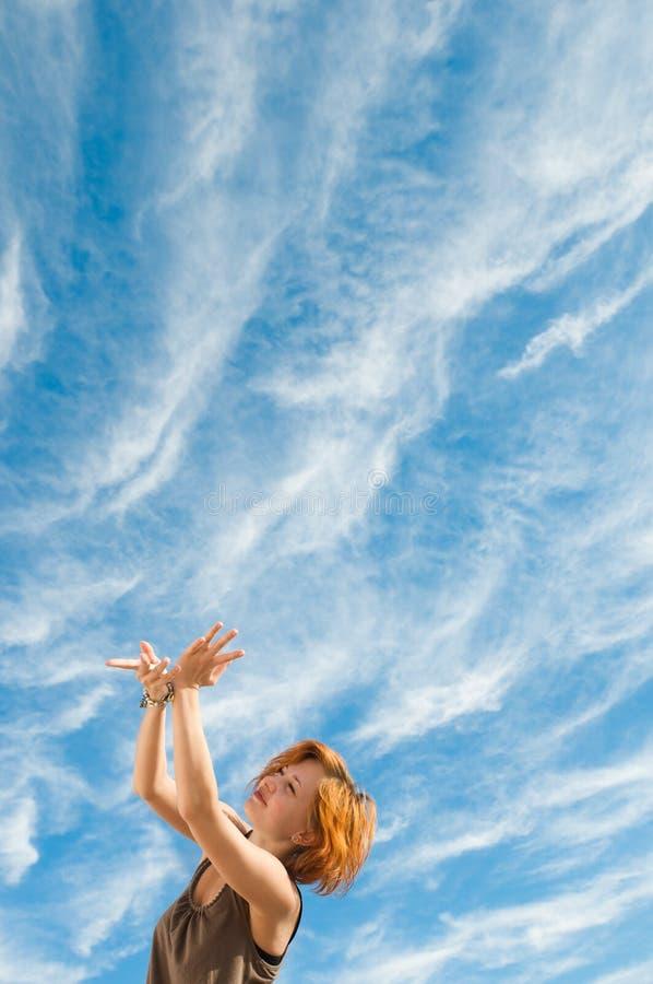 Yoga dance royalty free stock photography