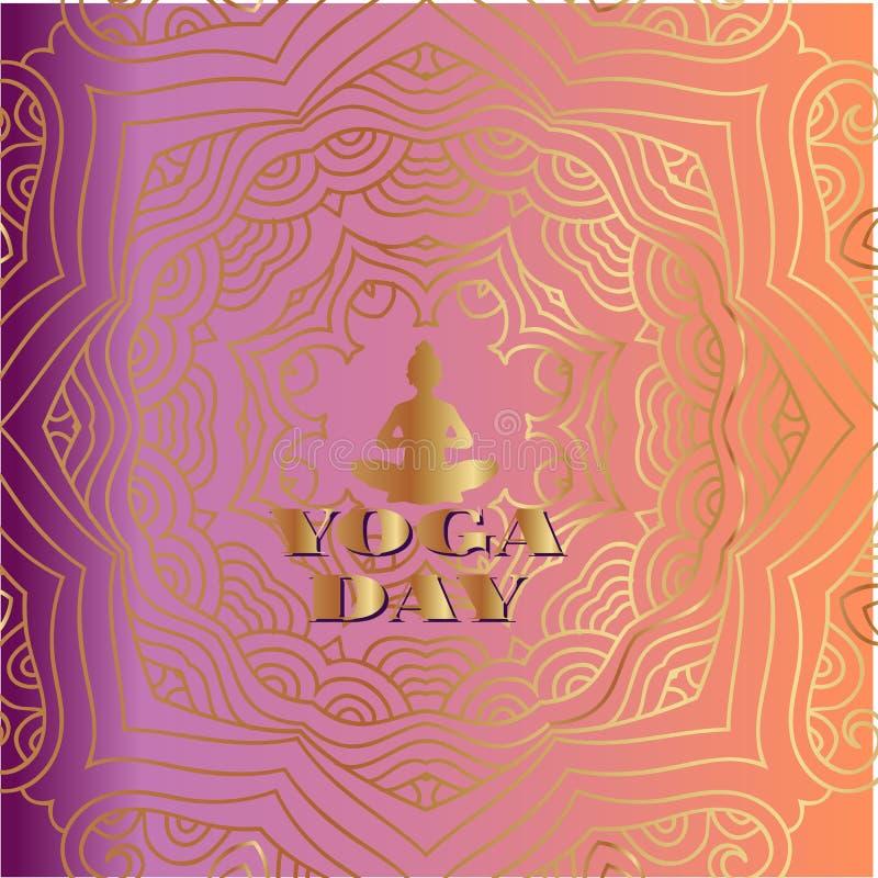 Yoga day7 royalty illustrazione gratis
