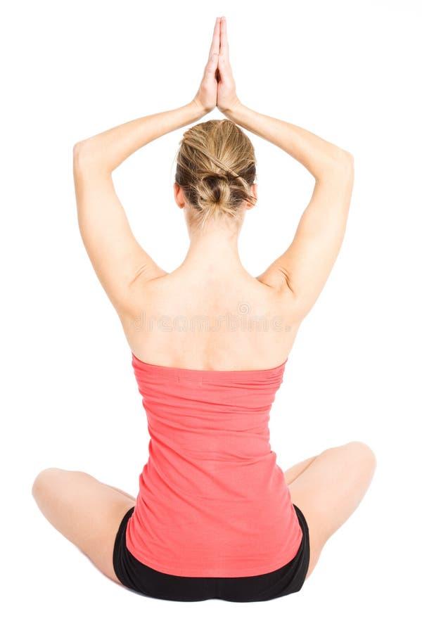 yoga de femme image stock