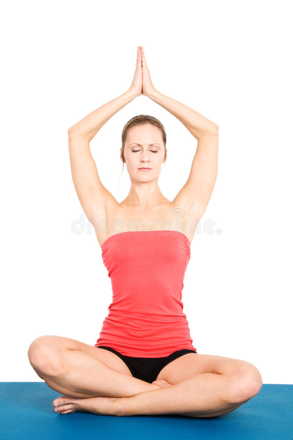 yoga de femme photos libres de droits