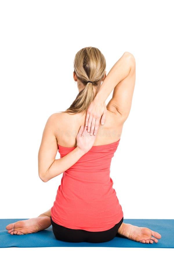 yoga de femme images libres de droits