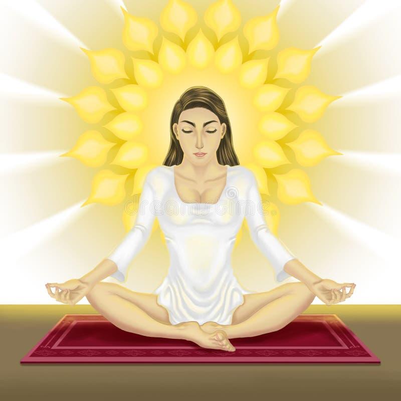 Yoga de femmes illustration libre de droits