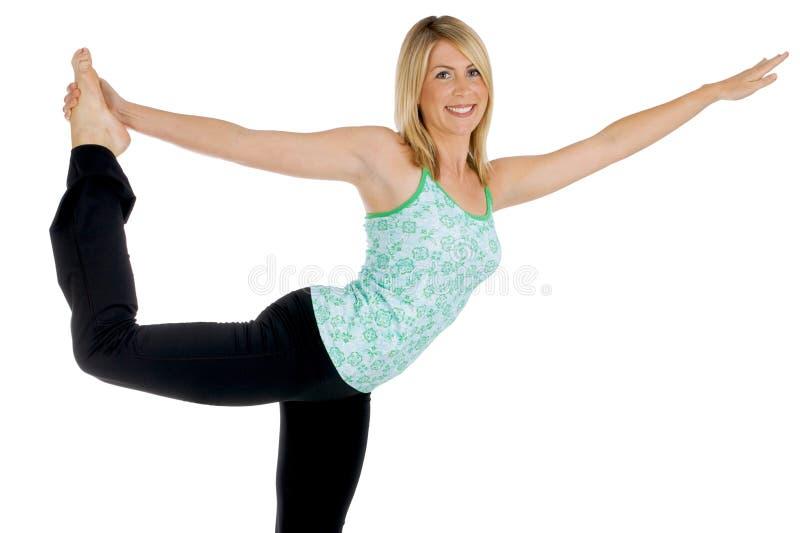 yoga de fille images libres de droits