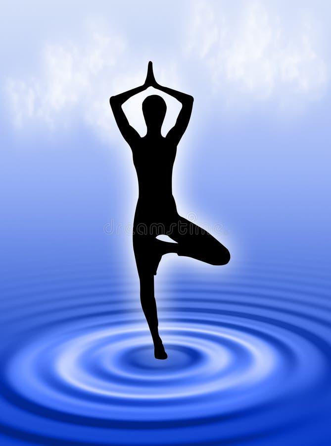 yoga de l'eau illustration libre de droits
