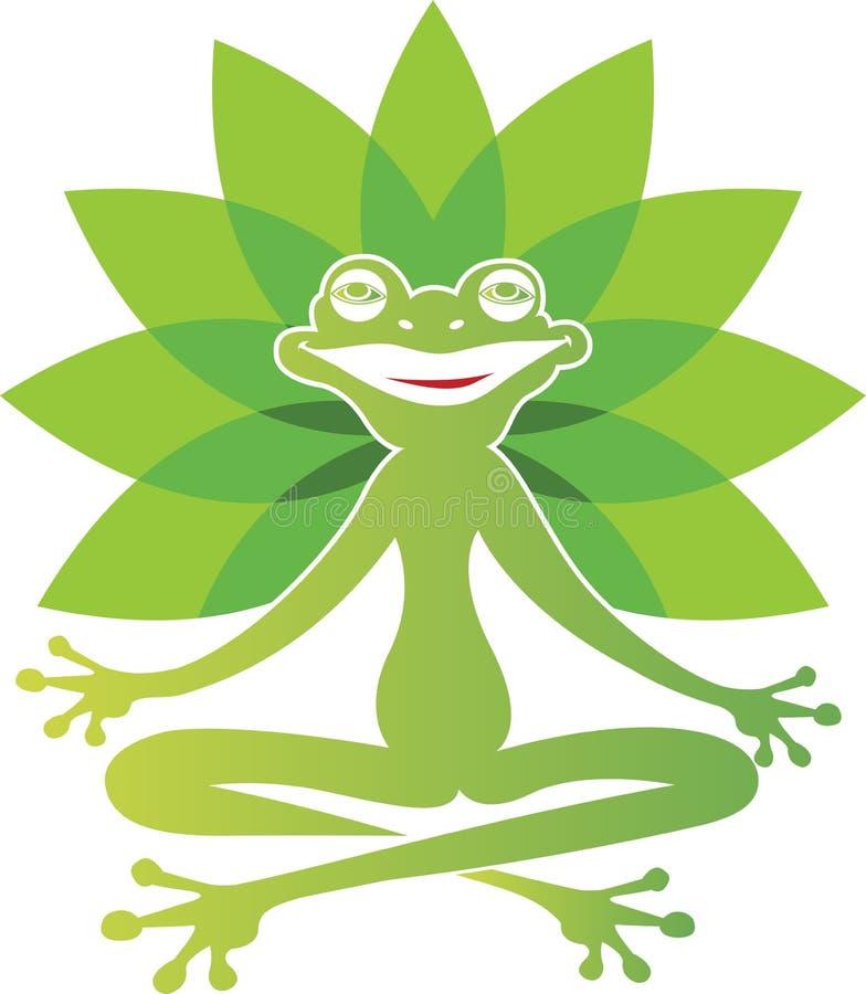 Yoga de la rana stock de ilustración