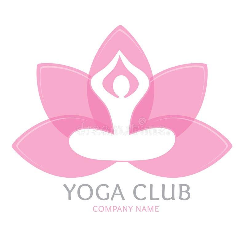 Yoga de logo illustration libre de droits