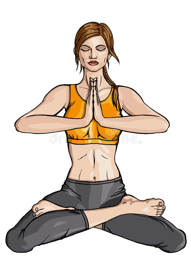 Yoga de Lotus illustration libre de droits
