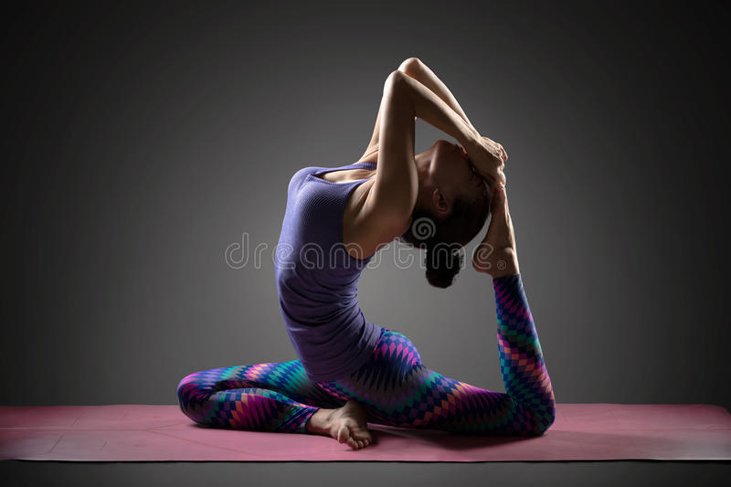 yoga de pose photo stock