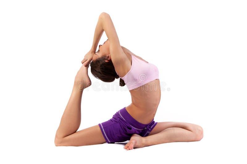 Yoga de pratique. Beau femme images libres de droits
