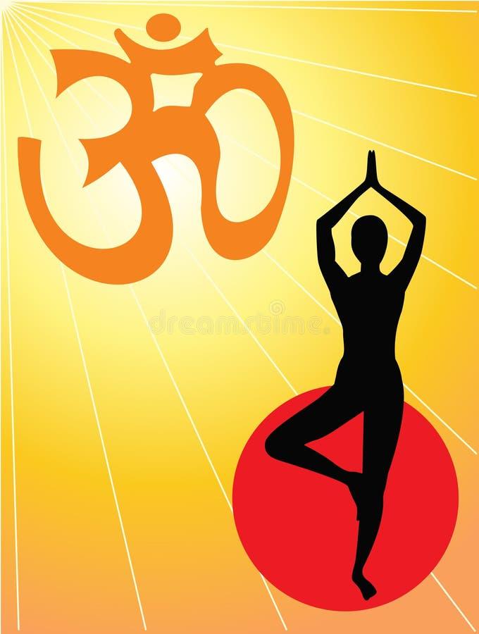 yoga de symbole d'aum illustration stock