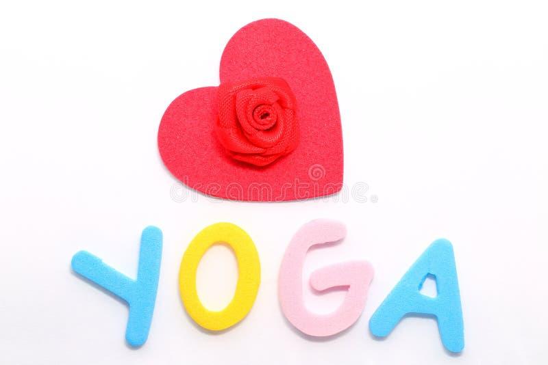 Yoga del amor foto de archivo