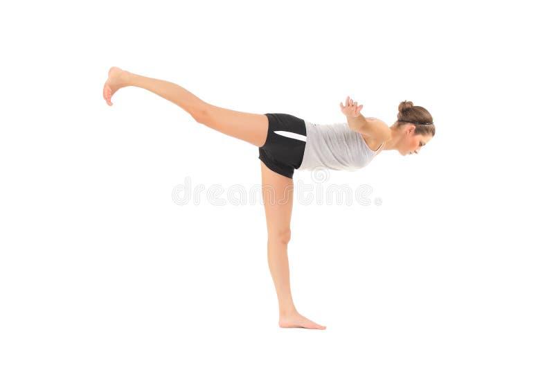 Yoga del entrenamiento de la mujer joven fotos de archivo libres de regalías