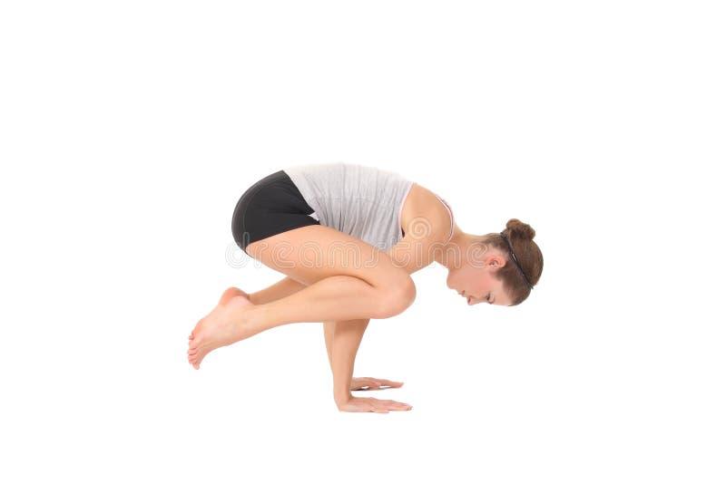 Yoga del entrenamiento de la mujer joven fotografía de archivo libre de regalías