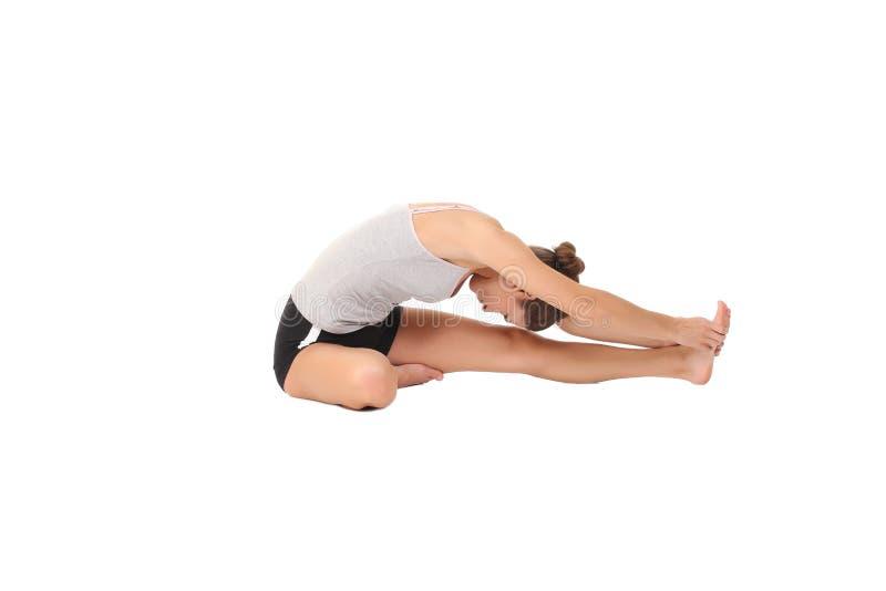 Yoga del entrenamiento de la mujer fotografía de archivo