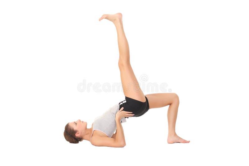 Yoga del entrenamiento de la mujer imágenes de archivo libres de regalías