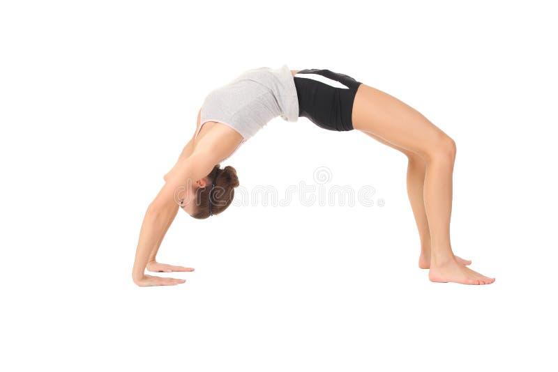 Yoga del entrenamiento de la mujer fotos de archivo