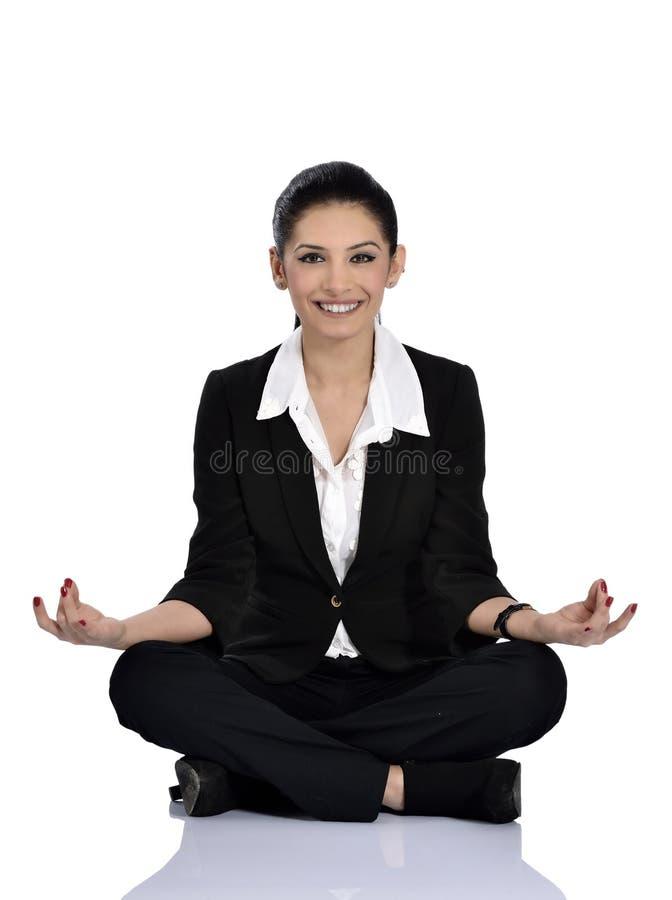 Yoga del negocio imágenes de archivo libres de regalías