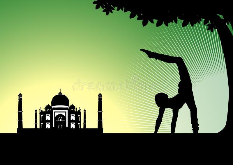 Yoga dell'India fotografia stock