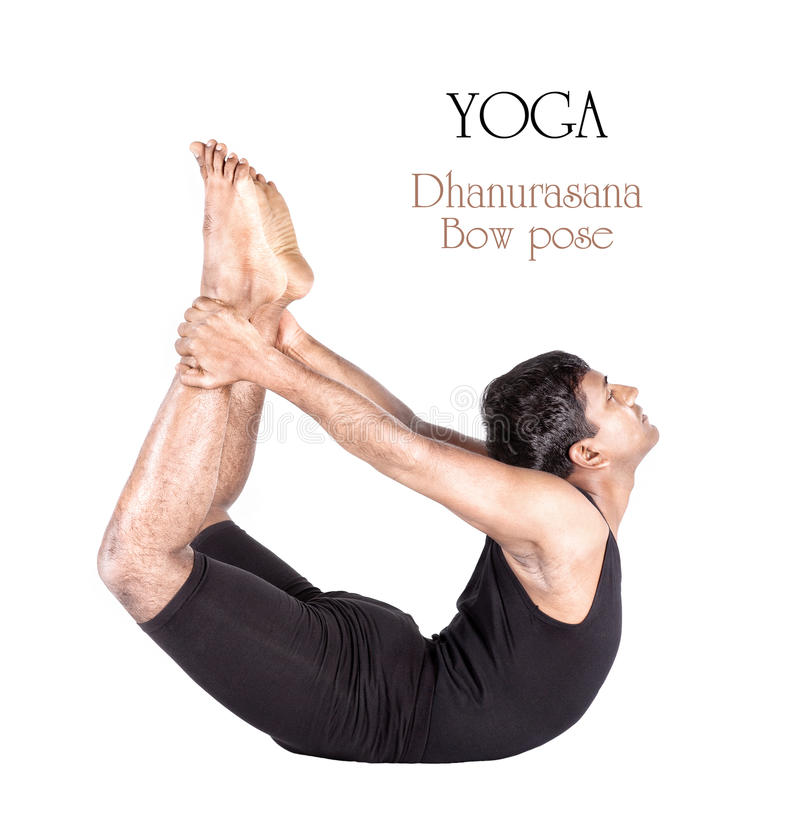 Yoga dhanurasana bow pose royalty free stock image