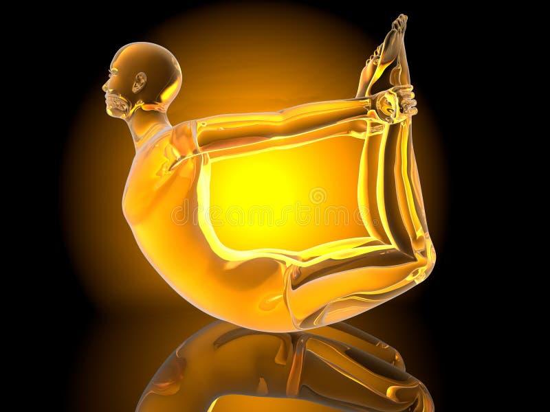Yoga - Dhanurasana Royalty Free Stock Image