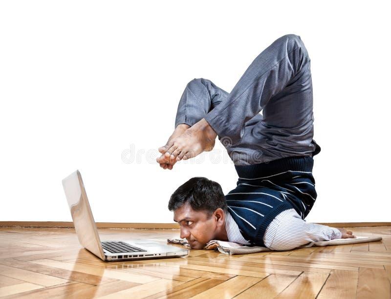 Yoga di affari immagine stock