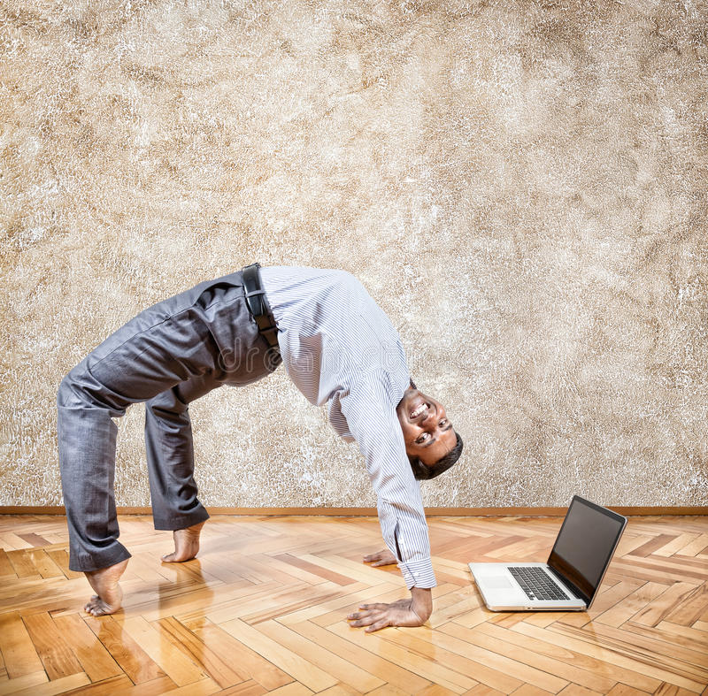 Yoga di affari fotografia stock libera da diritti