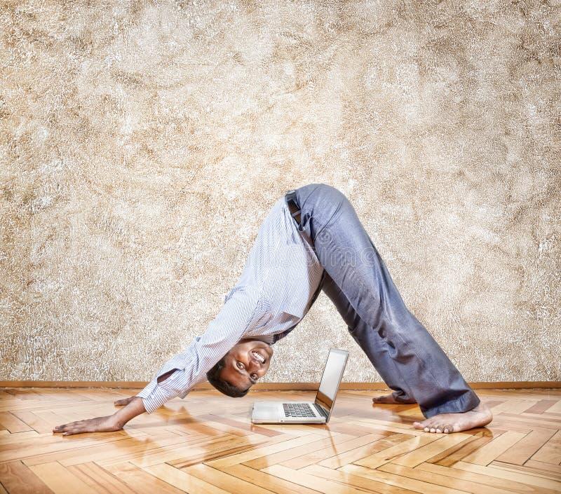 Yoga di affari fotografie stock libere da diritti
