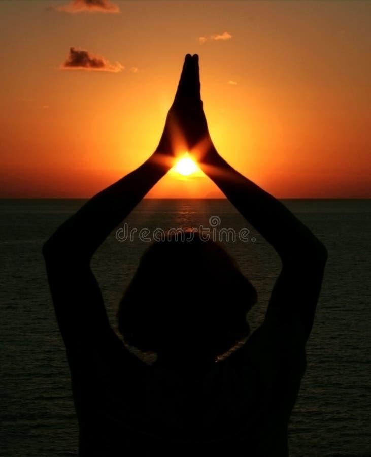 Yoga di meditazione fotografie stock