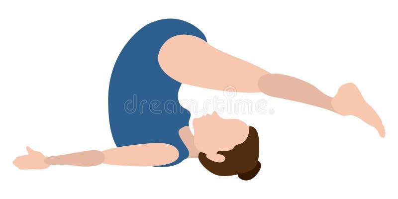 Download Yoga Di Pratica Della Ragazza Illustrazione Vettoriale - Illustrazione di isolato, posa: 117976556