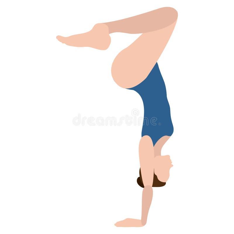 Download Yoga Di Pratica Della Ragazza Illustrazione Vettoriale - Illustrazione di salute, posizione: 117976593