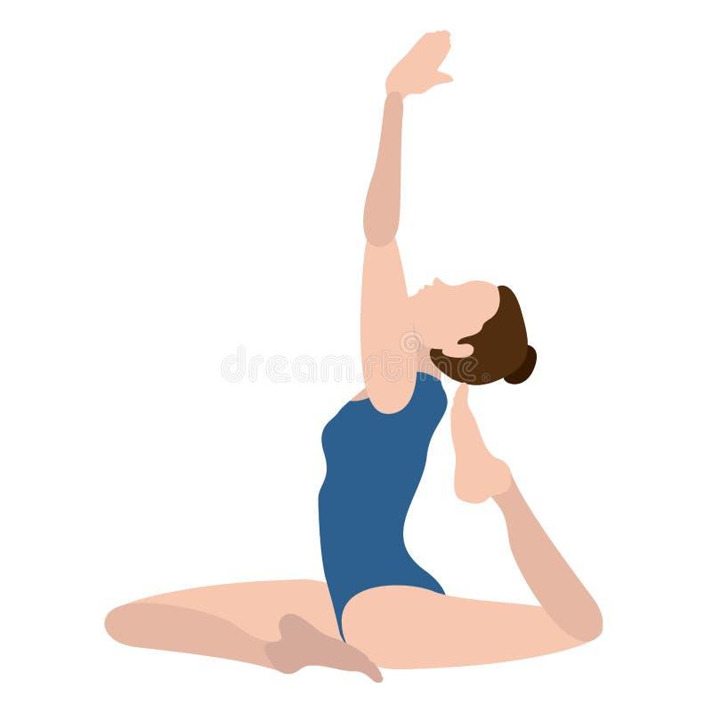 Download Yoga Di Pratica Della Ragazza Illustrazione Vettoriale - Illustrazione di sano, ragazza: 117976662