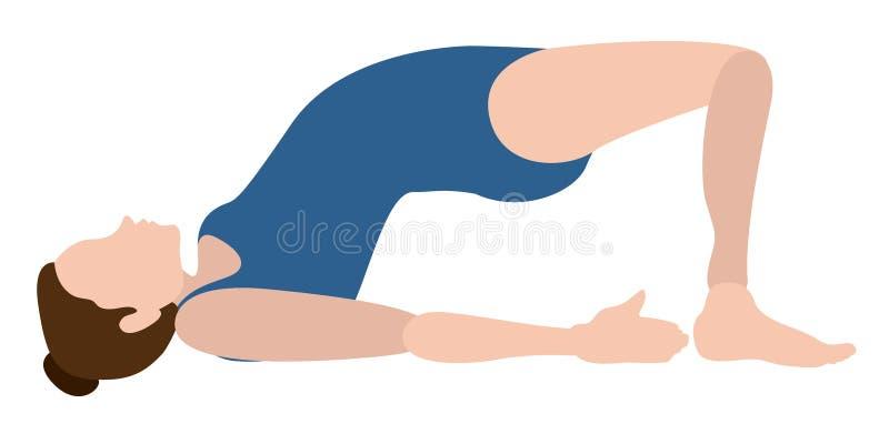 Download Yoga Di Pratica Della Ragazza Illustrazione Vettoriale - Illustrazione di sano, felice: 117976706