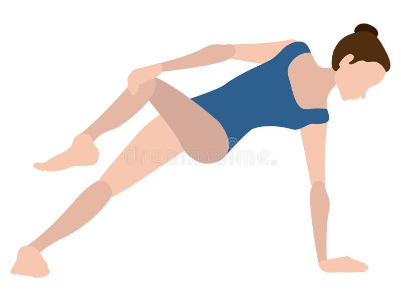 Download Yoga Di Pratica Della Ragazza Illustrazione Vettoriale - Illustrazione di idoneità, ragazza: 117976728