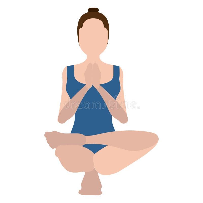 Download Yoga Di Pratica Della Ragazza Illustrazione Vettoriale - Illustrazione di ragazza, equilibrio: 117976743