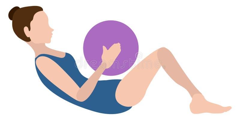 Download Yoga Di Pratica Della Ragazza Illustrazione Vettoriale - Illustrazione di posa, sport: 117976745