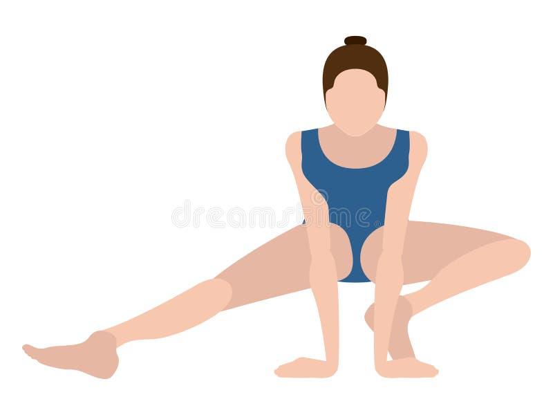 Download Yoga Di Pratica Della Ragazza Illustrazione Vettoriale - Illustrazione di bellezza, esercitazione: 117976779