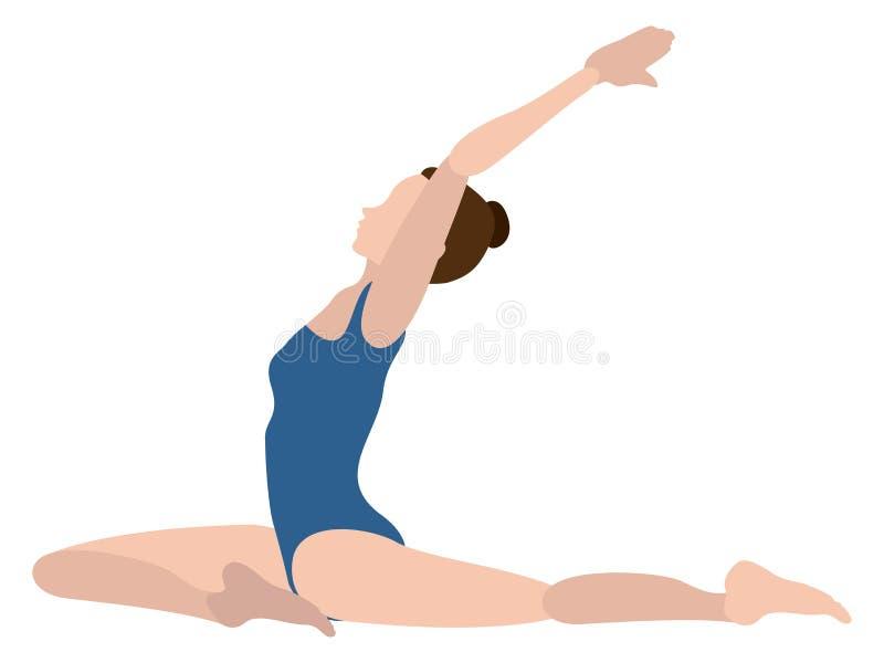 Download Yoga Di Pratica Della Ragazza Illustrazione Vettoriale - Illustrazione di figura, isolato: 117976781