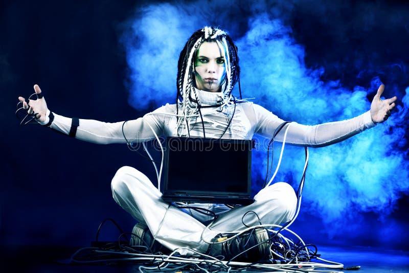 Yoga di Techno immagine stock libera da diritti