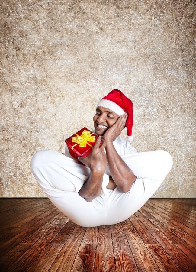 Yoga drôle de Noël image libre de droits