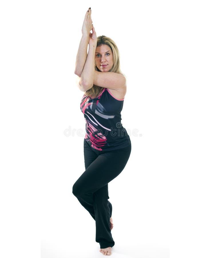 Download Yoga Eagle Pose stock photo. Image of confidence, flexibility - 18089716