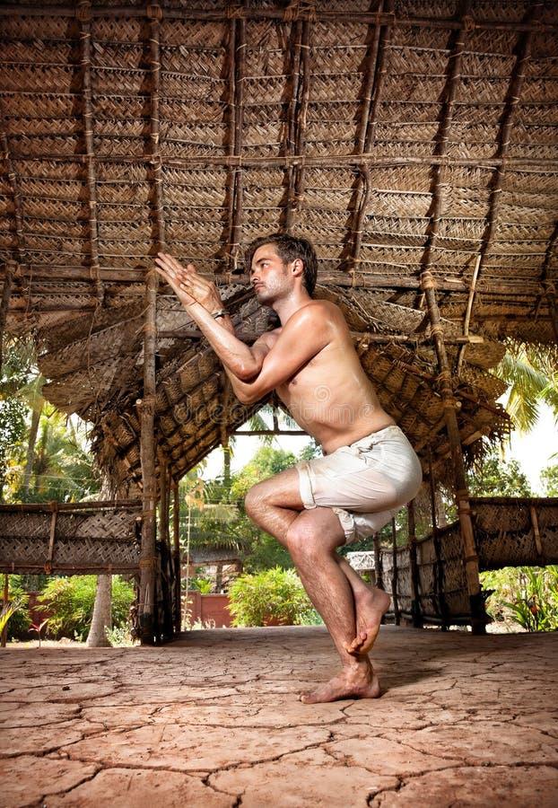 Yoga en la India fotos de archivo
