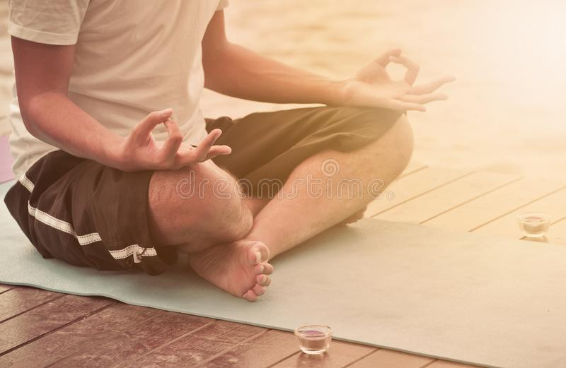 Yoga en meditatie royalty-vrije stock afbeelding