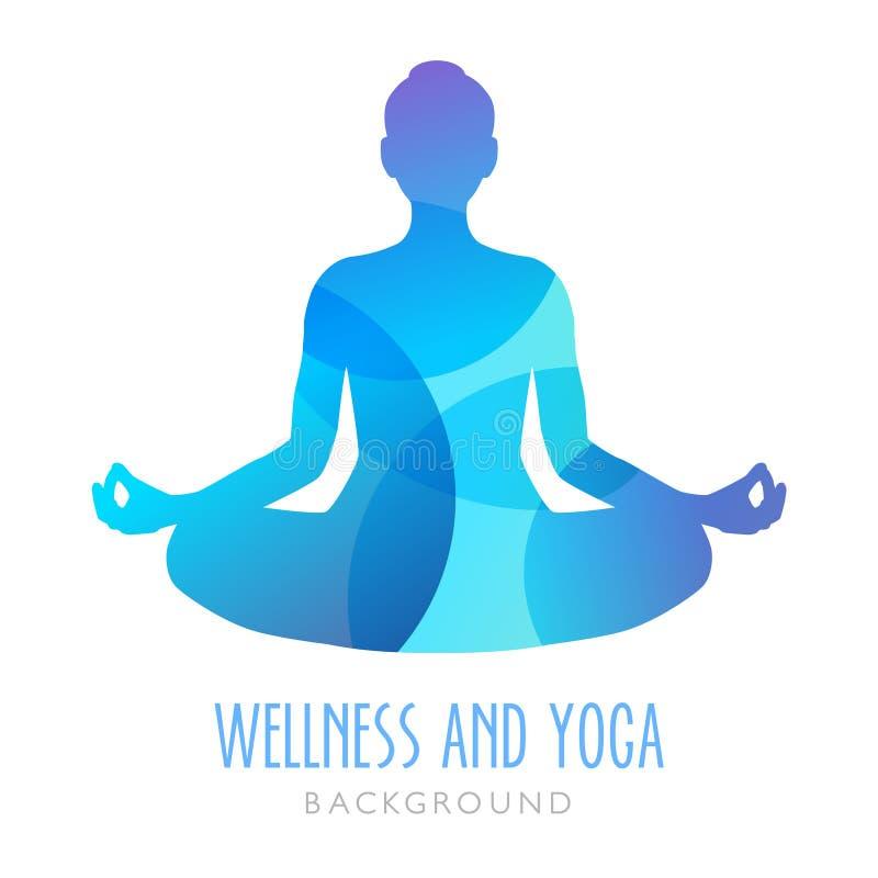 Yoga en Meditatiesymbool - Pictogram stock illustratie
