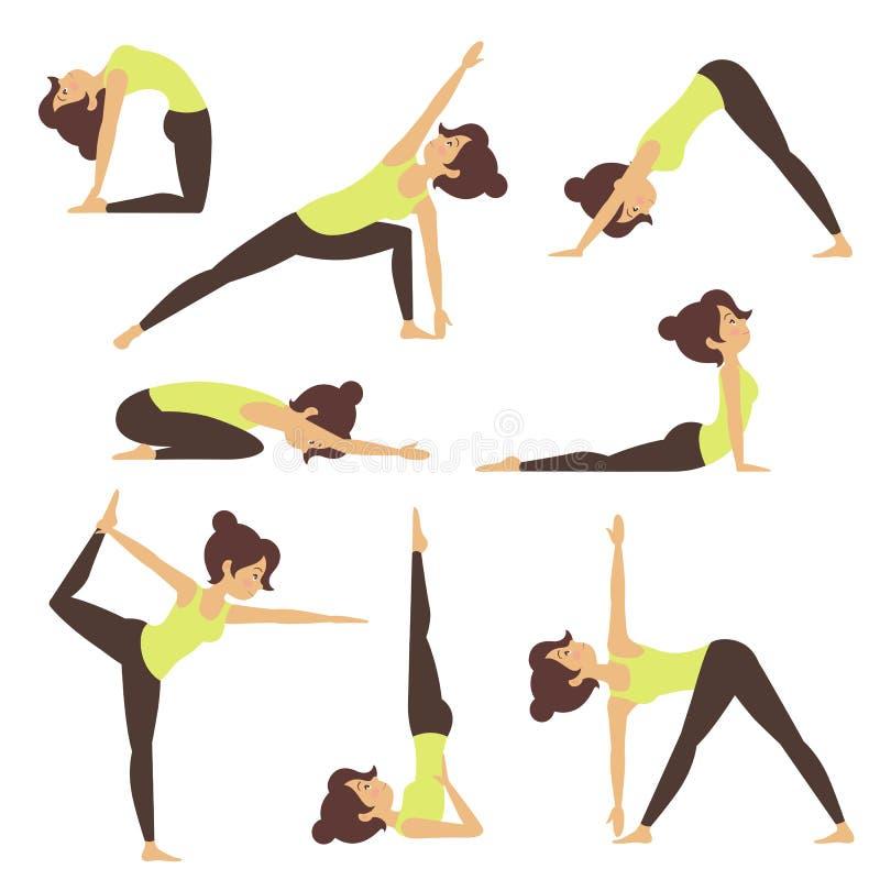 Yoga en naturaleza libre illustration