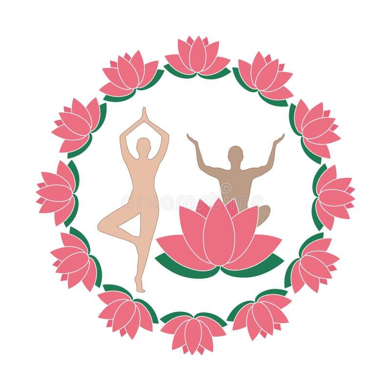 Yoga en zen - Logo Lotus Collection royalty-vrije stock foto's