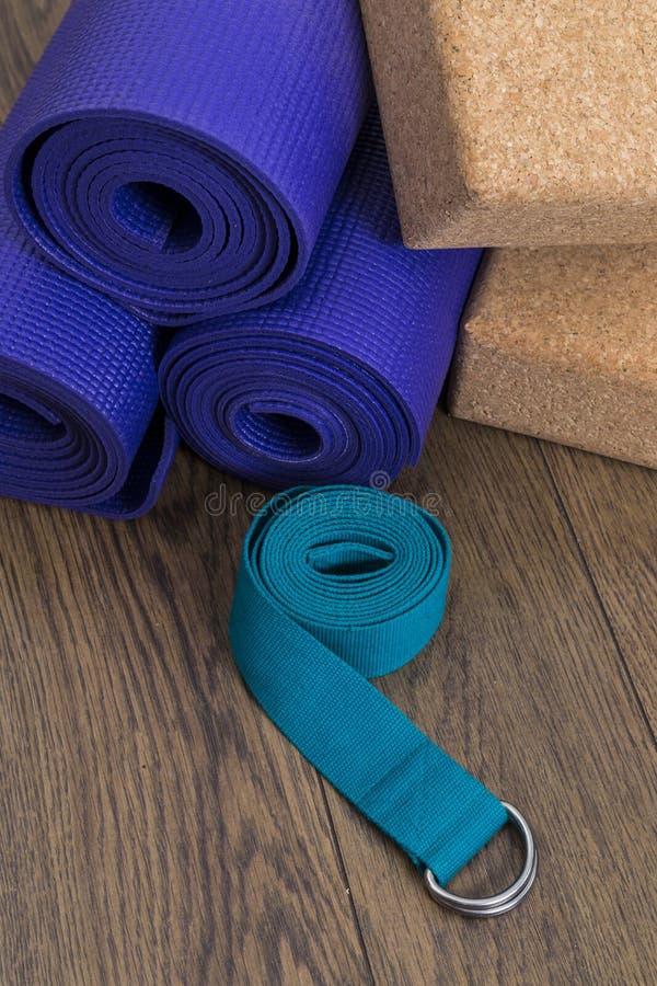 Yoga equipment royalty free stock photos