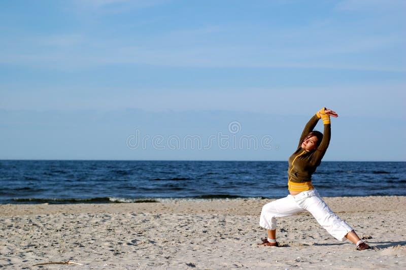 Yoga esterna immagine stock