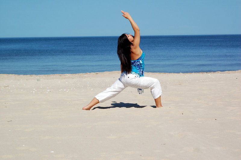 Yoga esterna fotografia stock