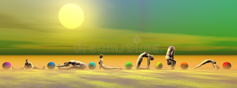 Yoga et chakras illustration de vecteur