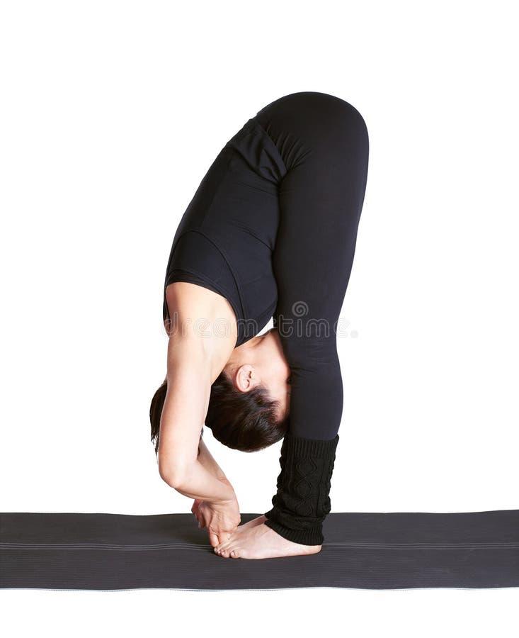 Download Yoga Excercising Padangushthasana Stock Photo - Image: 19059500